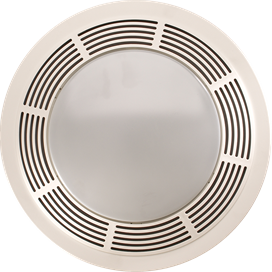 "BROAN #750 BATH FAN-LIGHT-NL 100CFM-3.5 SONE-15""ROUND GRILL"