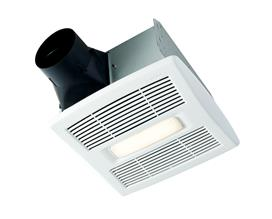 BROAN AE110SL BATH FAN/LIGHT- QUIET 1.0 SONE-HUMIDITY SENSE