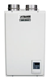 "TANKLESS NAT GAS 120KBTU WATER HEATER=3""PVC VENT-INDOOR"